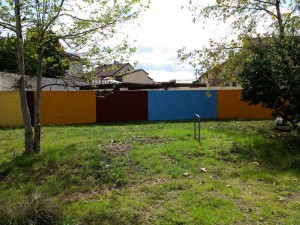 Lashbrook Park walls get a colorful wall