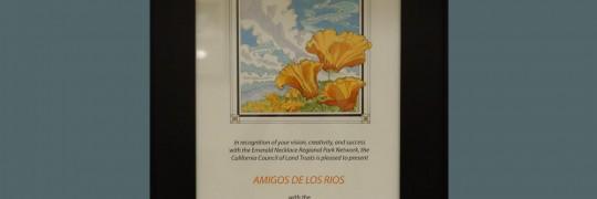 Amigos award from CA Council of Land Trust Award