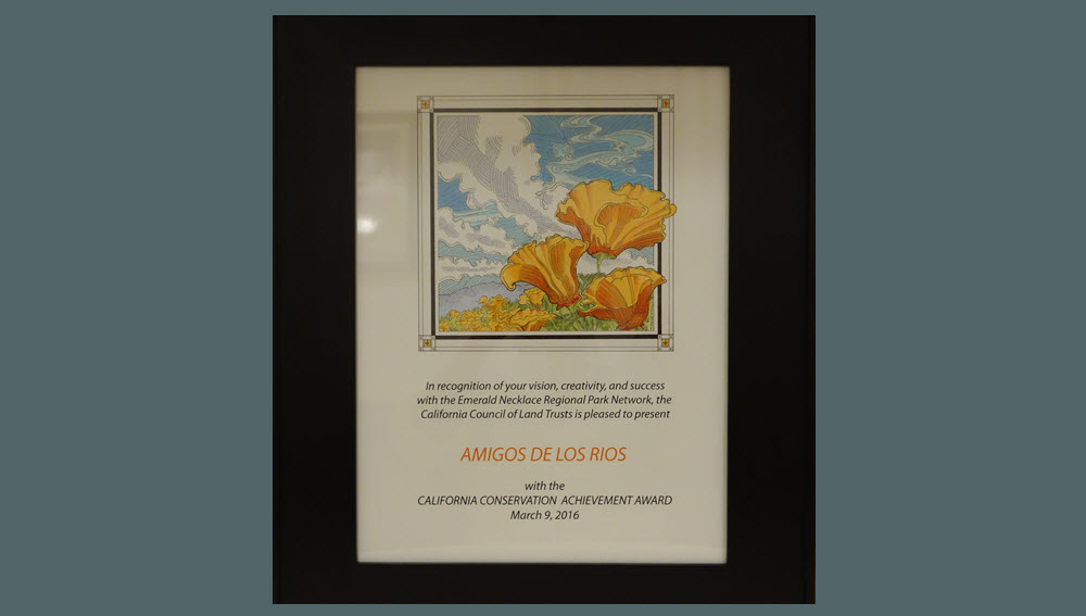 Amigos award from CA Council of Land Trust Award