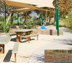 Rio Vista Park eating area with shade canopy