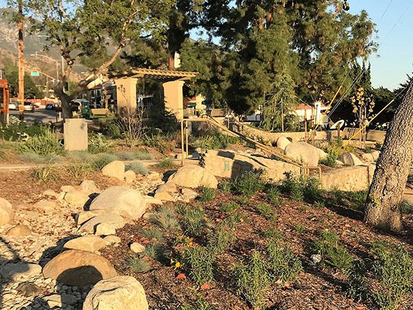 Altadena Triangle Park after renovation
