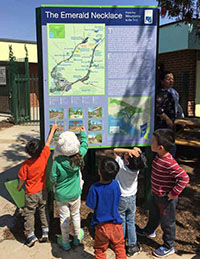 JSFC Campus children - Emerald Necklace Sign