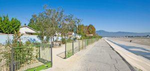Rio Vista Fence Along River