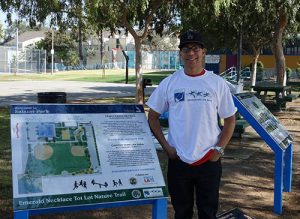 Salazar Park Signage and Amigos volunteer
