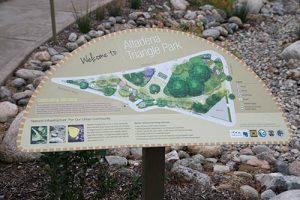 Altadena Triangle Park Signage