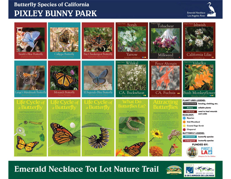 Pixley Bunny Park Species Signage