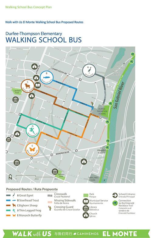Durfee Thompson Walking School Bus Map-2017