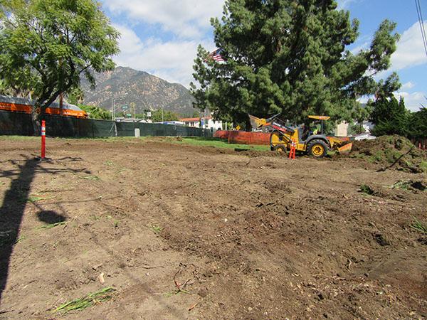 Altadena Triangle Park before renovation