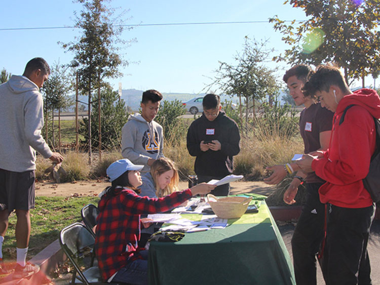 Sign in-check in Table for Volunteers at Bosque del Rio Hondo