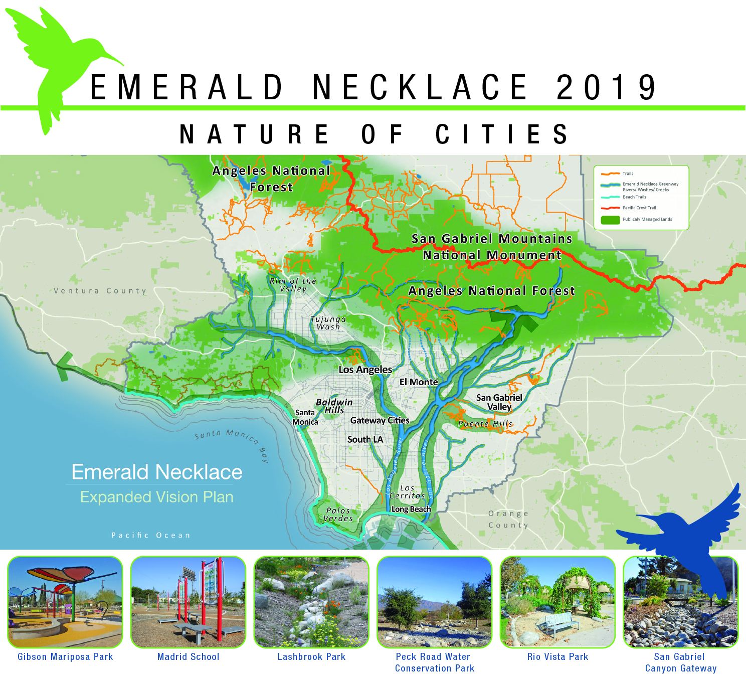 Amigos de los Rios Emerald Necklace Map