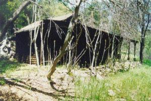 Hazel Dell Mining Camp cabin before 2002 Copper Fire