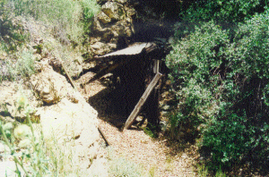 Hazel Dell Mining tunnel before the 2002 fire