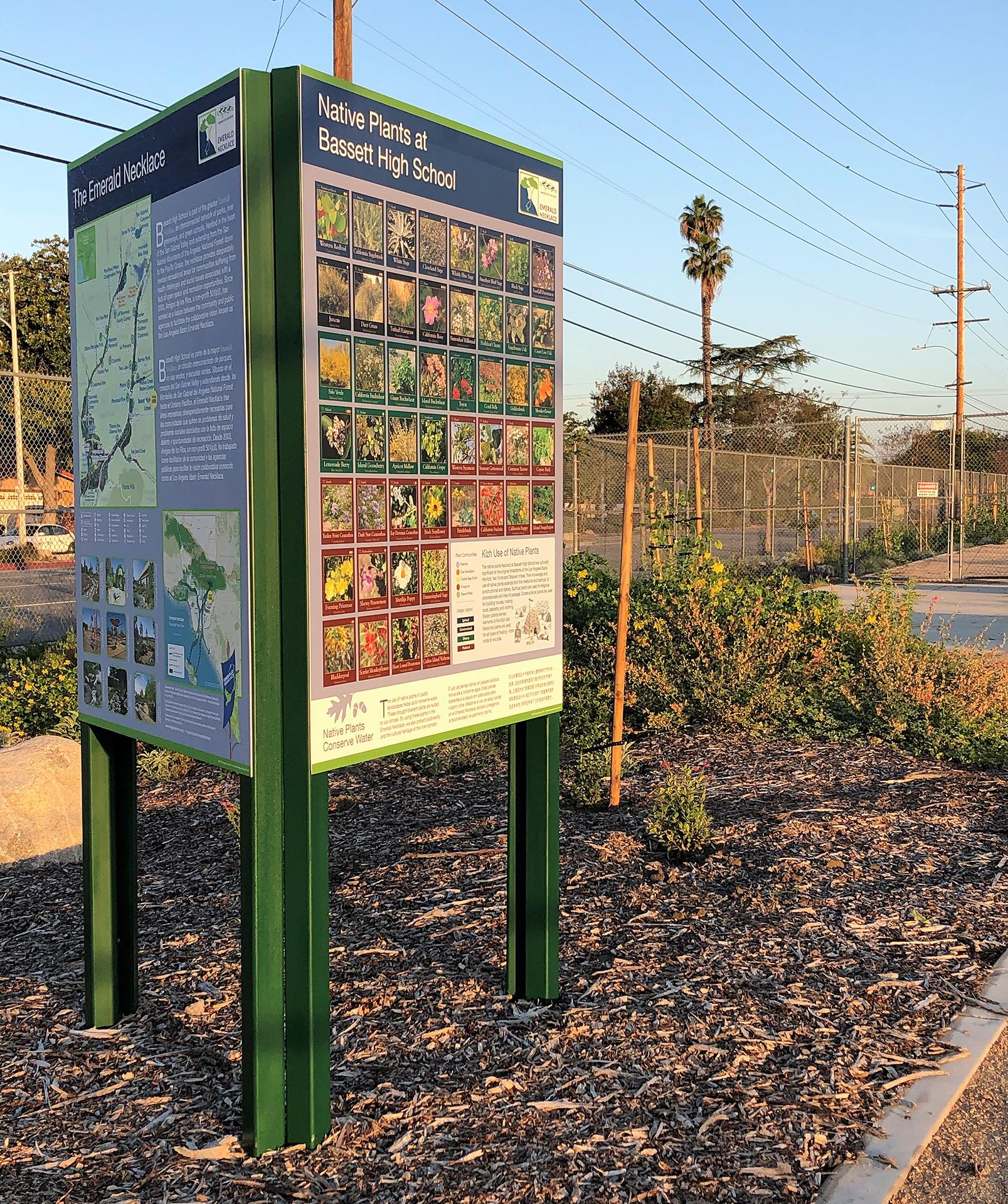 Native Plant Signage at Bassett High School