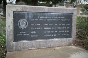 Altadena Triangle Park American Legion Service Members Memorial