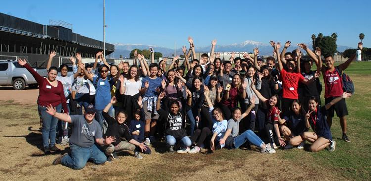Bassett-High-School-planting Volunteers