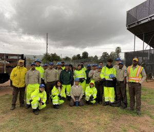California Conservation Corp team at Bassett High School Project